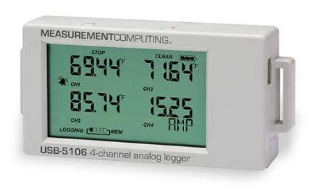 USB-5106  High-Accuracy, 4-Channel Analog Data Logger