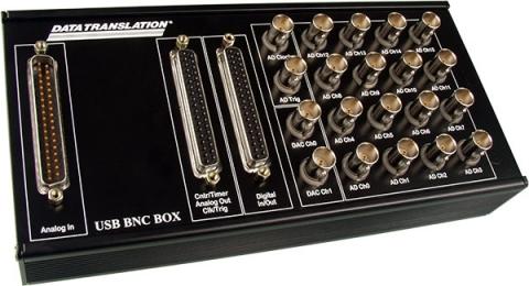 DT9804-EC-I-BNC16SE  Easy-Connect USB Data Acquisition (DAQ) Module; 16-bit, 100kHz, 16 AI, 2 AO, 16 DIO, 2 C/T, aluminum case with BNC connectors