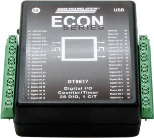 DT9817-R  Low Cost USB Digital I/O Module; 16 DIO, 500V isolation