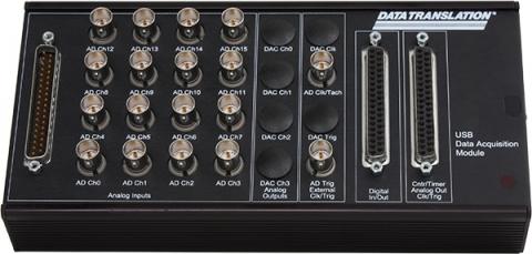 DT9826  Simultaneous USB Data Acquisition (DAQ) Module; 24-bit, 41kHz per channel, 16 AI, 16 DIO, 2 C/T, 1 Tachometer, BNC Connectors