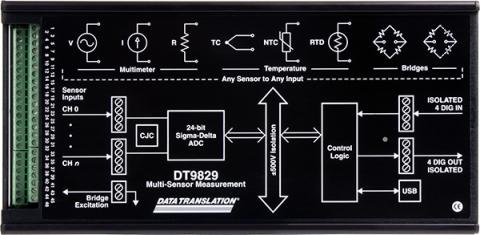 DT9829-8  High-Precision Mixed Sensor USB Device