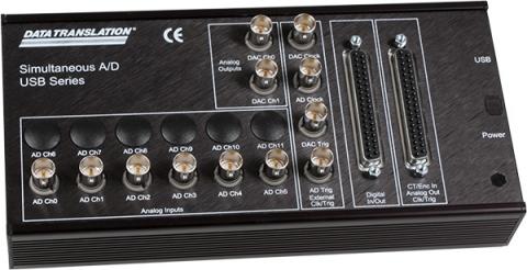 DT9836-6-4-BNC  Simultaneous USB DAQ Module; 16-bit, 225kHz, 6 AI, 4 AO, 32 DIO, 2 C/T, 3 Q/D, BNC Connectors