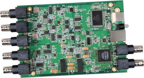 DT9837-OEM  USB-powered Dynamic Signal Analyzer; 24-bit, 52.7kHz, 4 IEPE AI, 1 AO, 1 Tach, No Enclosure