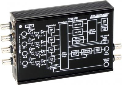 DT9837C-BNC  USB-powered Dynamic Signal Analyzer; 24-bit, 105.4kHz, 4 IEPE AI, 1 AO