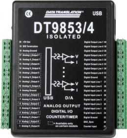 DT9853  USB Analog Output Module; 16-bit, 4 AO, 16 DIO, 1 C/T