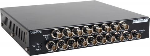 DT9857E-16  USB Dynamic Signal Analyzer: 16 IEPE AI, 24-bit, 105.4 kHz; 2 AO, 32-bit, 216 kHz; 16 DIO; 1 Tachometer