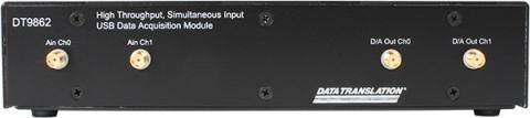 DT9862-2-0  Simultaneous USB Data Acquisition (DAQ) Module; 16-bit, 10 MHz, 2 AI, 32 DIO, 2 C/T, 3 Q/D, SMA connectors