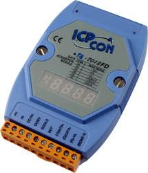 I-7012FD Analog Input Module w/ LED display (1AI+1DI+2DO)