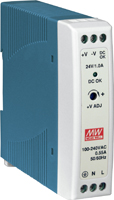 MDR20-24 24Vdc/24W Output Power Supply (DIN-Rail Mounting)