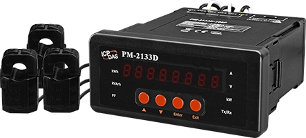 PM-2133D-100P  3-phase Compact Smart Energy Meter, LED Display, 60A CT's