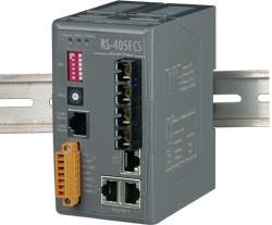 RS-405FCS 3 port Ethernet Ring + Dual Fibre Switch (SC) - 15km