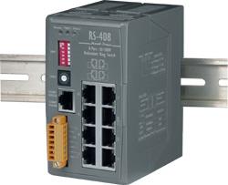 RS-408 8 port Redundant Ethernet Ring Switch