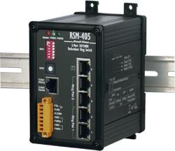 RSM-405FC 3 port Ethernet Ring + Dual Fibre Switch (SC) - rugged