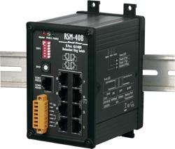 RSM-408 8 port Redundant Ethernet Ring Switch - rugged