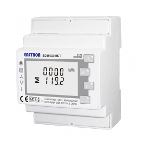 SDM-630 DIN-Rail Mounting Power Meter (single or three phase) - MID App