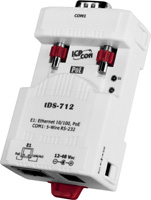 tDS-712 Tiny Serial-Ethernet Device Server (1x RS232)