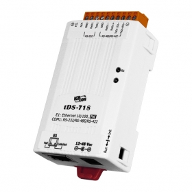 tDS-718 Tiny Serial-Ethernet Device Server (1x RS-232/422/485)