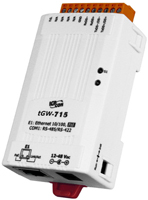 tGW-715i  Isolated Modbus TCP to Modbus RTU/ASCII gateway (1xRS422/RS485)