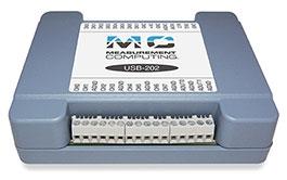 USB-202 12-Bit, 100 kS/s, Two Analog Outputs