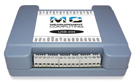 USB-205 12-Bit, 500 kS/s, 2 Analog Outputs Data Acquisition USB DAQ Device