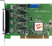 VXC-144iU 4-port RS422/RS485 isolated Universal PCI Comms Card