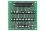 CIO-MINI37-VERT Universal screw-terminal board, 37-pin D male connector, vertical